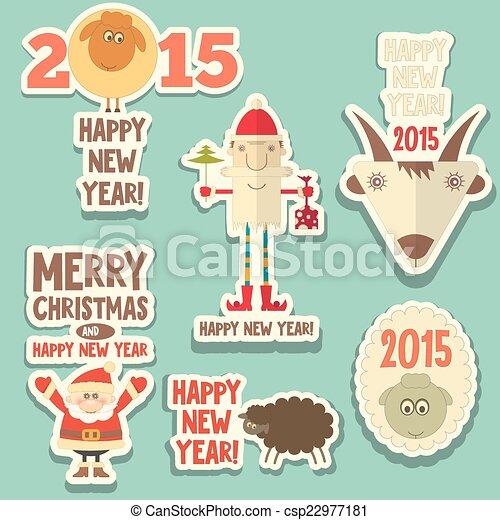 Christmas stickers - csp22977181
