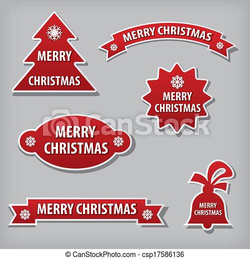 christmas stickers - csp17586136