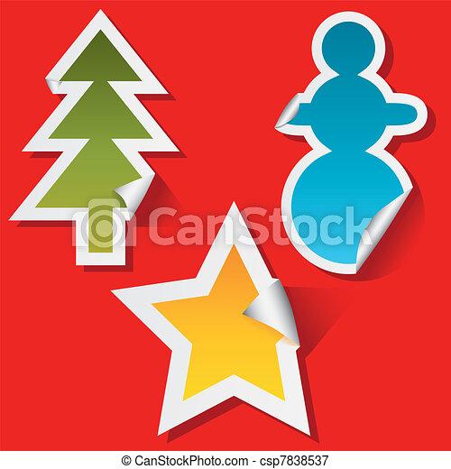 christmas stickers - csp7838537