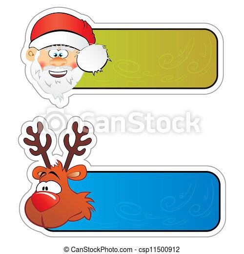 Christmas stickers - csp11500912