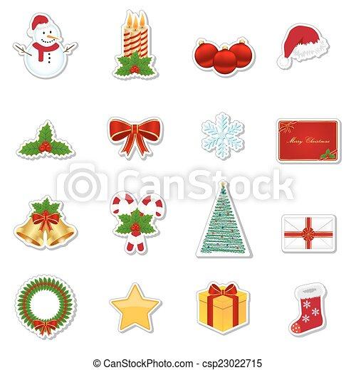 Christmas stickers - csp23022715