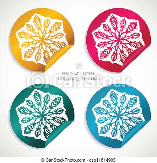 Christmas stickers - csp11814903