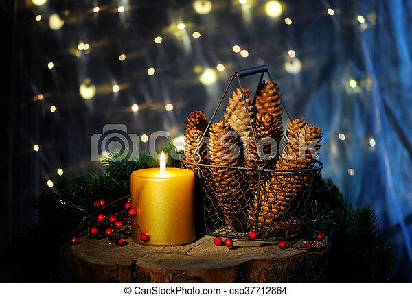christmas still life - csp37712864