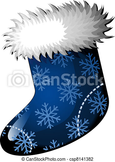 christmas stocking - Blue Christmas Stocking