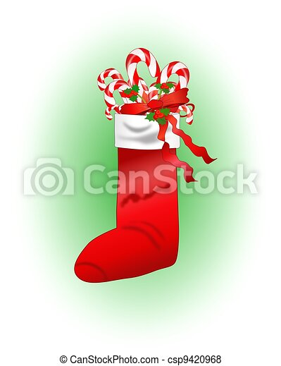 Christmas Stocking with Gifts - csp9420968