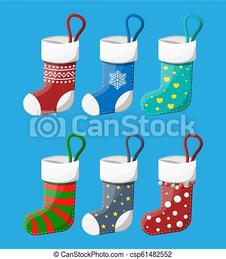 Christmas Stockings In Various Colors