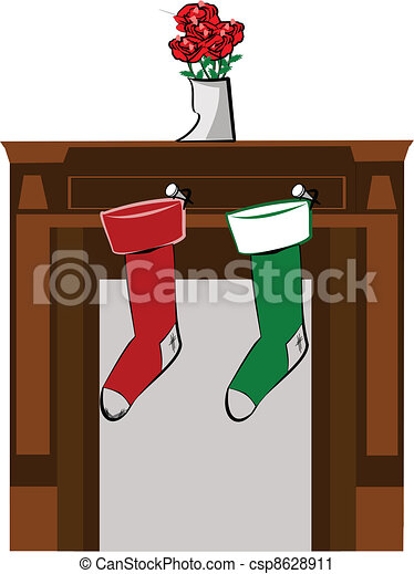 Christmas Stockings Stockings Hung From The Mantle For Christmas