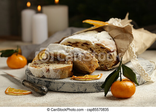 Christmas stollen for treats and decorations - csp85570835