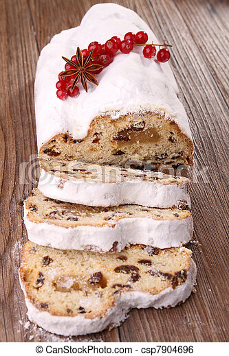 christmas stollen fruit - csp7904696