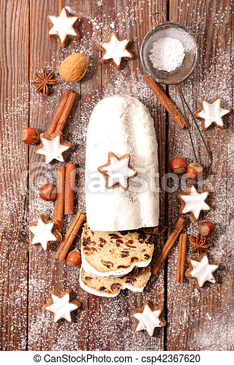 christmas stollen - csp42367620