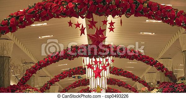 christmas store decoration csp0493226 - Noel Christmas Store