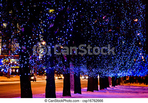 christmas street light csp16762666