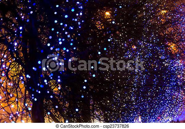 christmas street light csp23737826