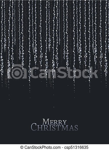 Christmas String Lights Vector Illustration On A