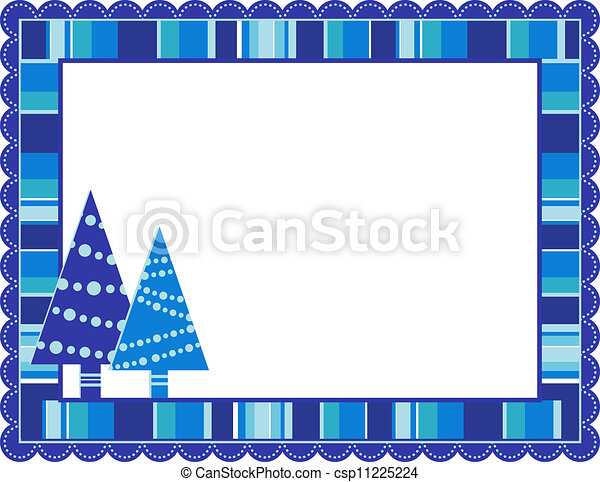 Christmas Stripped Frame - csp11225224