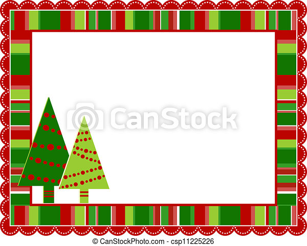 Christmas stripped frame. Christmas stripped patterned frame with ...