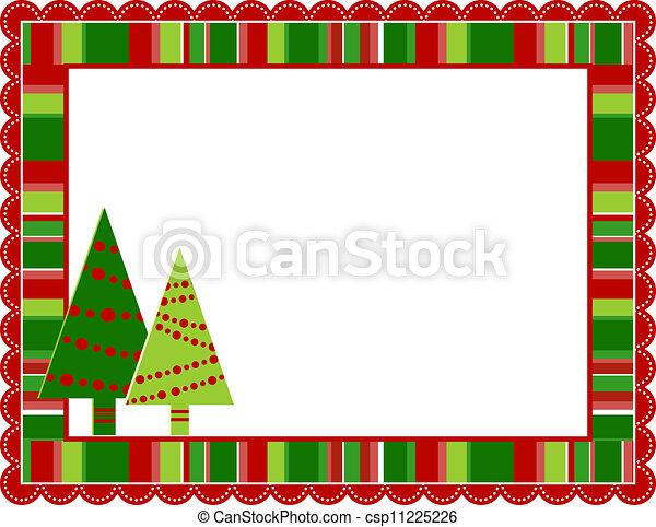 Christmas Stripped Frame - csp11225226