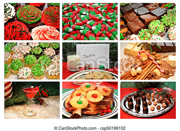 Christmas Sweets.Christmas Sweets Collage