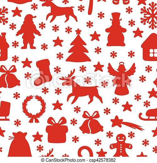 Christmas symbol pattern seamless - csp42578382
