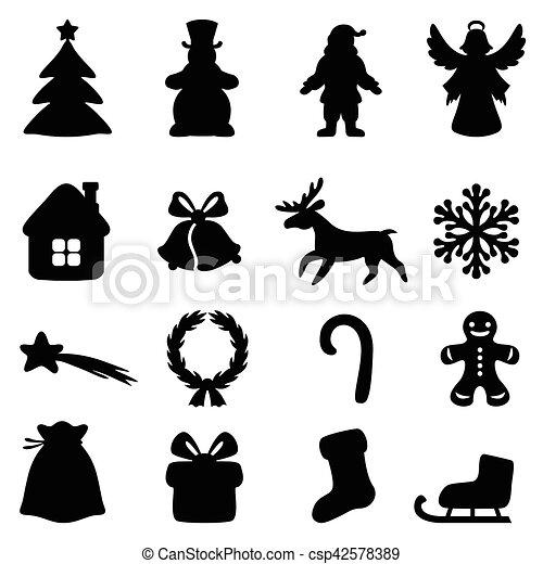 Christmas symbol set - csp42578389
