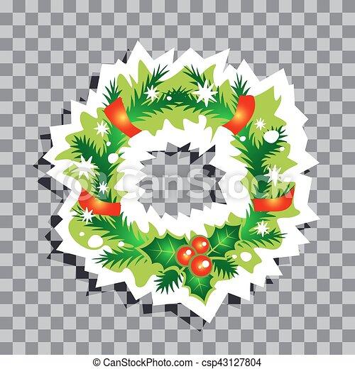 Christmas Symbols 05 Christmas Wreath Isolated On Transparent