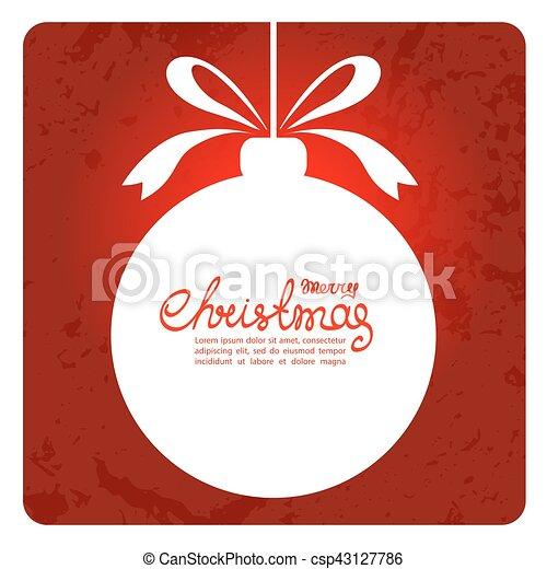 Christmas Symbols 11 Christmas Ball Silhouette With Text Frame