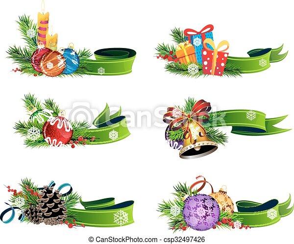 Christmas symbols - csp32497426