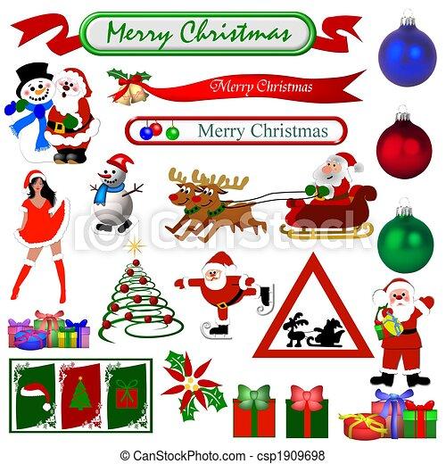Christmas Symbols Isolated