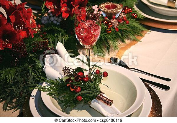 Christmas table deco - csp0486119