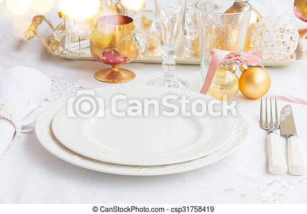 Christmas Tableware Set Tableware For Christmas Set Of Empty