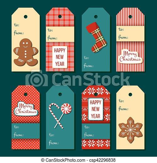 Christmas Labels.Christmas Tags Funny Christmas Label Set