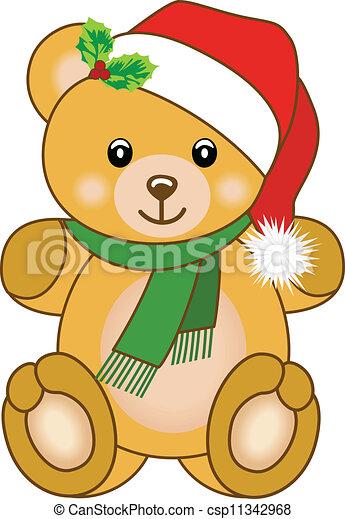 Christmas Bear.Christmas Teddy Bear
