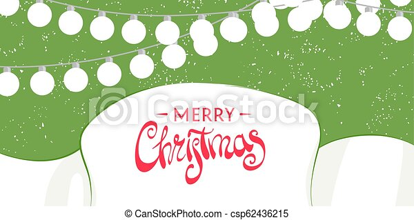 Christmas template for greeting card - csp62436215