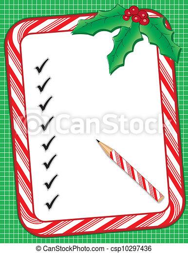 christmas to do list csp10297436