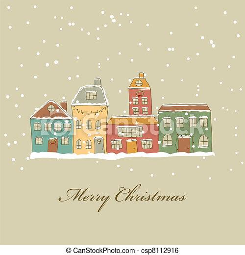 Christmas town - csp8112916