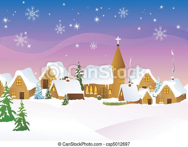 Christmas town - csp5012697