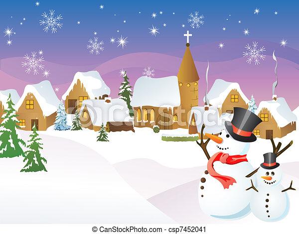 Christmas town - csp7452041