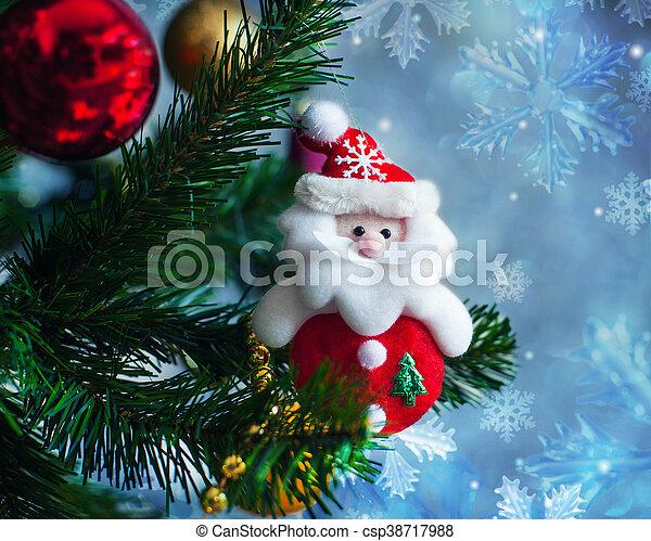 Christmas toy Santa Claus - csp38717988