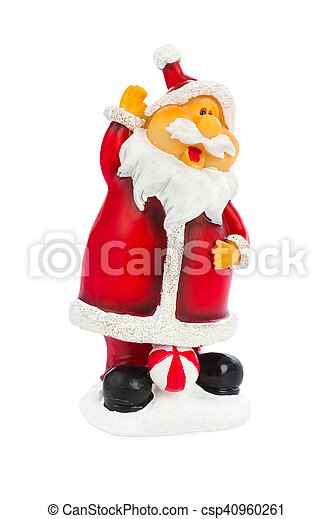 Christmas toy Santa Claus - csp40960261