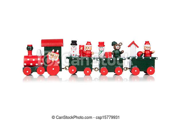 Christmas Toy Train - csp15779931