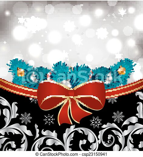 Christmas traditional background with decoration - csp23150941