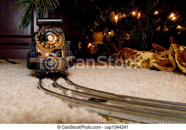 Christmas Train - csp1344241