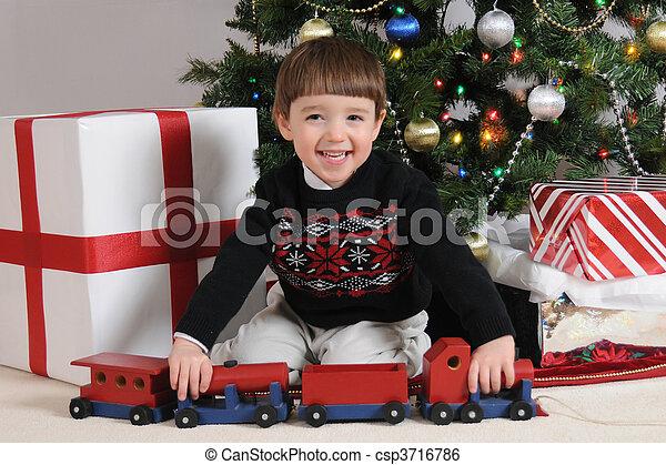 Christmas Train - csp3716786
