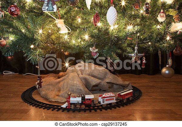 Christmas train - csp29137245