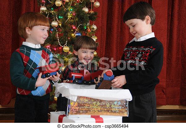 Christmas Train - csp3665494