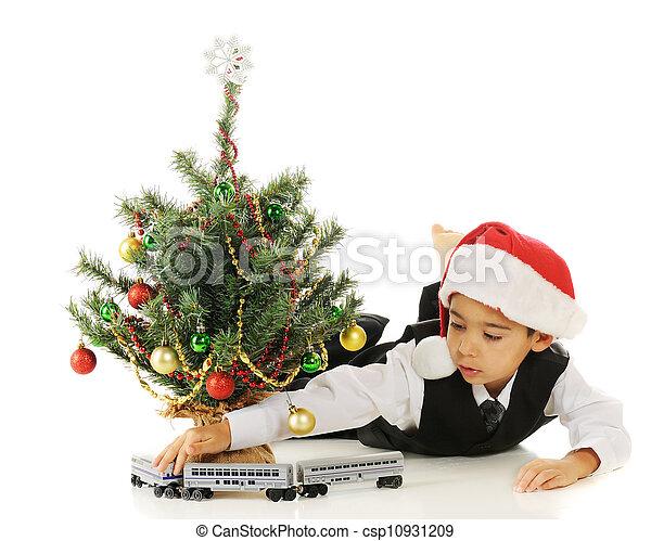 Christmas Train - csp10931209