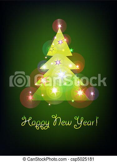 Christmas tree 2 - csp5025181