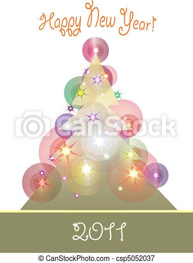 christmas tree 3 - csp5052037