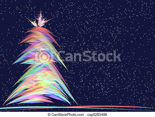 Christmas Tree Allegory - csp0283498