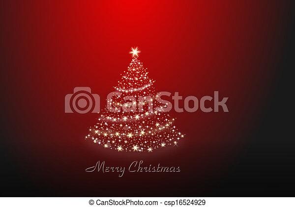 Christmas tree alone - csp16524929